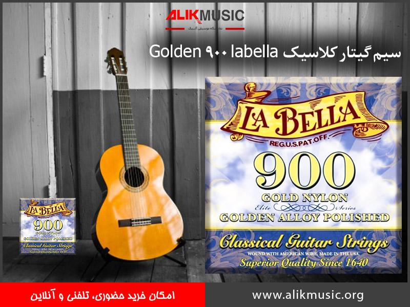 سیم گیتار کلاسیک labella 900 Gold