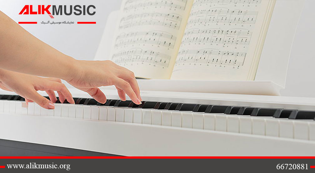 پیانو دیجیتال پرتابل es110 سفید