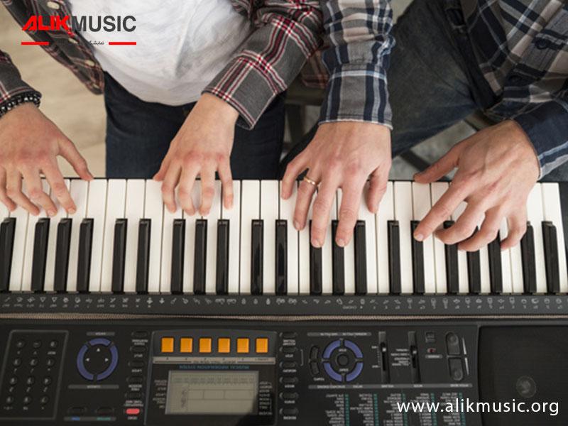 یادگیری پیانو با ارگ