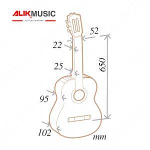 گیتار آلمانزا مدل ۴۰۲ کلاسیک