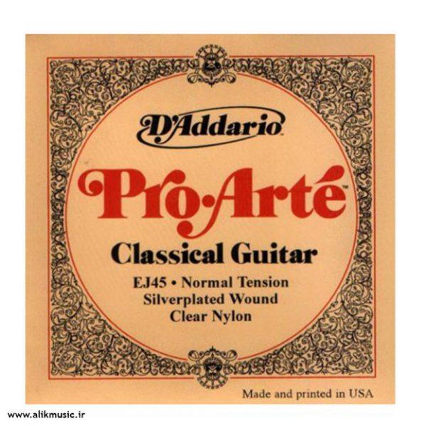 سیم گیتار کلاسیک D Addario ej45