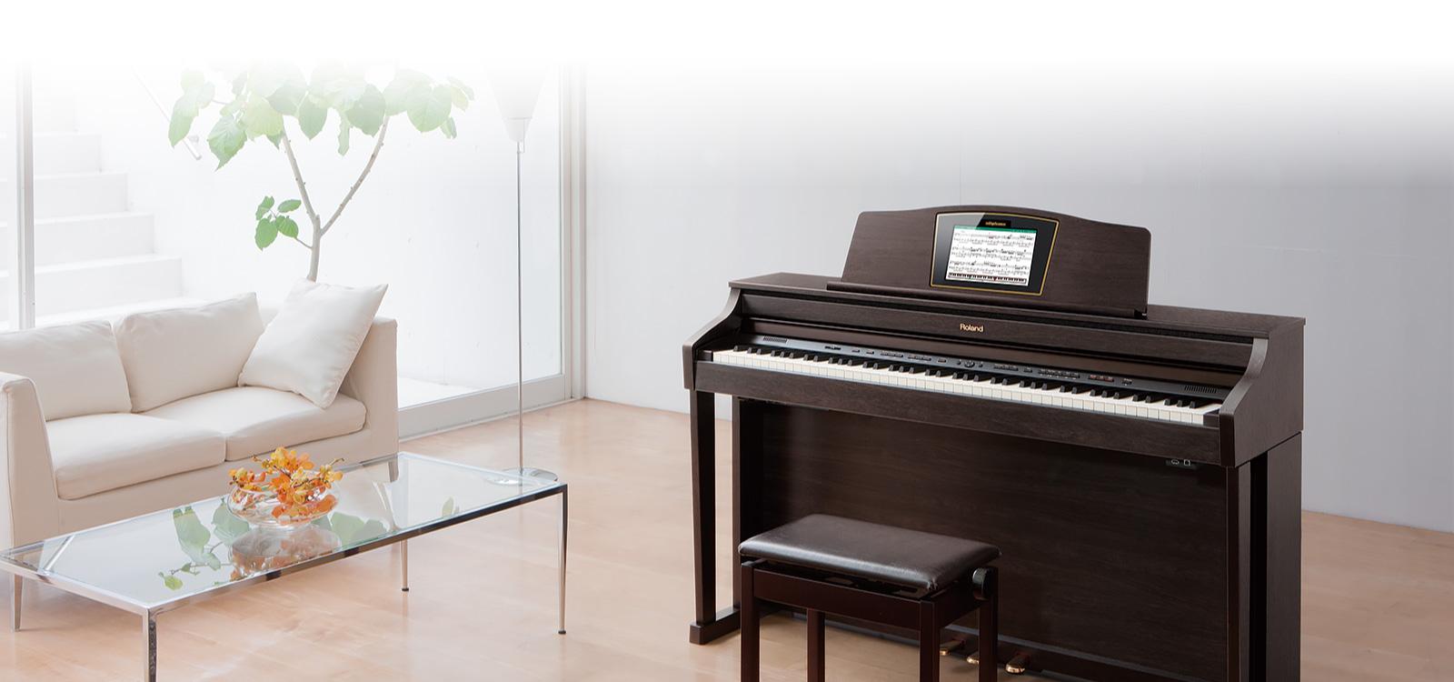 فروش پیانو دیجیتال رولند مدل HPi 50 RW