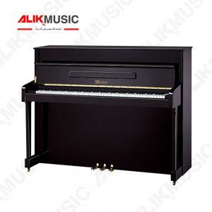پیانو وبر 114 آکوستیک دیواری مشکی دست دوم کم کارکرد